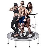 TBTBGXQ Mini Trampoline, pour Interieur ou Exterieur Exercice Physique Cardio et Jumping Fitness, Guidon Réglable & Charge Maximale 150kg