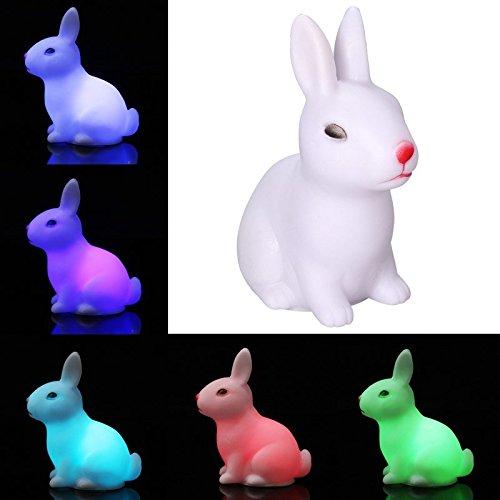 Bazaar Changement de couleur LED lumière de la nuit petit petit lapin lampe enfants jouet cadeau enfant