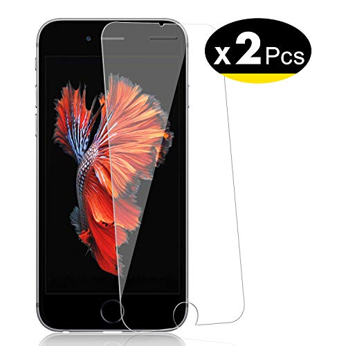 NEW'C 2 Pezzi, Vetro Temperato per iPhone 6, iPhone 6s, Pellicola Prottetiva Anti Graffio, Anti-Impronte, Senza Bolle, Durezza 9H, 0,33mm Ultra Trasparente, Ultra Resistente