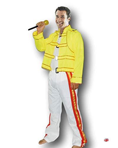 Rubber Johnnies TM Años 80 Freddie Mercury Disfraz Wembley Rock Star Hombre Freddy Disfraz