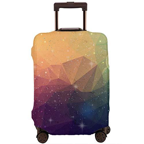 Cubierta de equipaje de viaje Multi Color Triangular Patrón Maleta Protector Lavable Cubiertas de equipaje