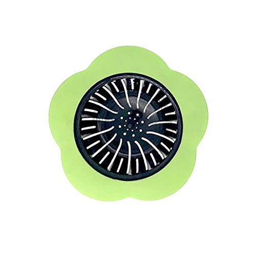 MJIYA Sink Strainer Basket, 4.5 Inch Universal Kitchen Sink Stopper Garbage Disposal Drain Stopper Brushed Rubber STP-SS, for Insinkerator, Kitchenaid, Waste King, Kohler and More (Green)