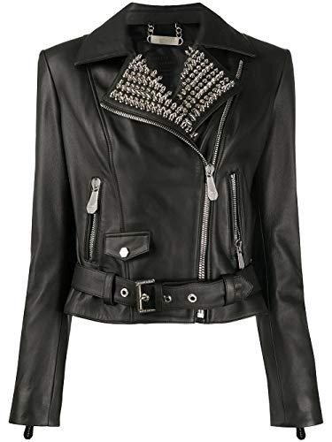 PHILIPP PLEIN Luxury Fashion Donna S20CWLB0664PLE010N02 Nero Pelle Giacca Outerwear |...
