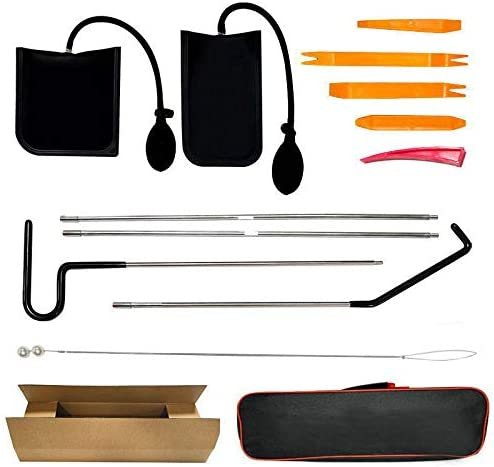 ArtSwithly Tools Car Emergency 12 Piece Kit Long Reach Grabber Stainless Steel Air Pump Wedge product image