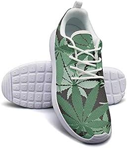 Cannabis Leaf Hemp Lightweight Running Shoes for Women Sneaker Travel Soft Sole Shoes