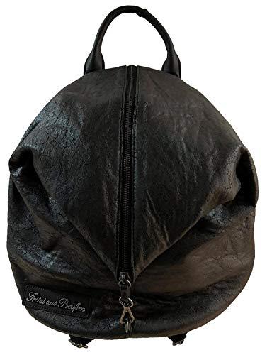 Fritzi aus Preussen Damen Marit Rucksackhandtasche, Schwarz (Black), 30x33x16 cm