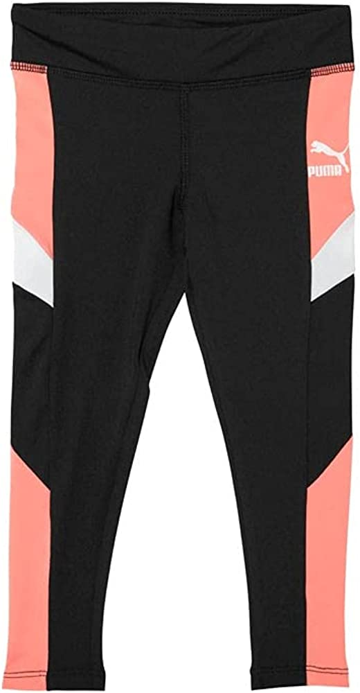 PUMA Toddler Girls Color Block Spandex Legging - Black
