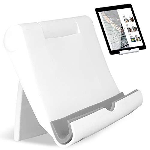 Regolabile Supporto Supporto Tablet Universale Telefono Supporto per Tablet Multi-Angolo Portatile Tablet Multicolore JAANY(White)
