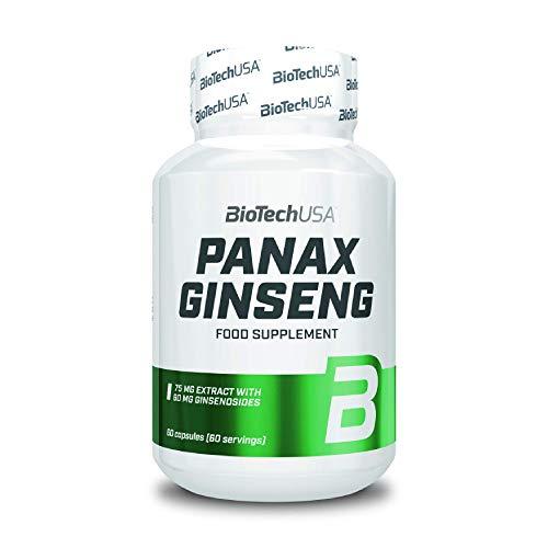 BioTechUSA Panax Ginseng Suplemento dietético en cápsulas que contiene extracto de ginseng coreano, 60 cápsules