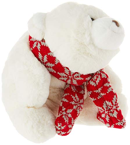 "GUND Snuffles with Knit Scarf Christmas Stuffed Plush Teddy Bear, White, 10"" -  4061080"