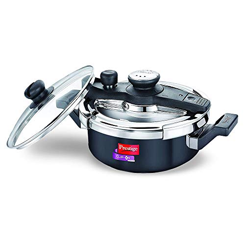 Prestige Svachh, 20241, 3 L, Hard Anodised Pressure Cooker, with deep lid for Spillage Control