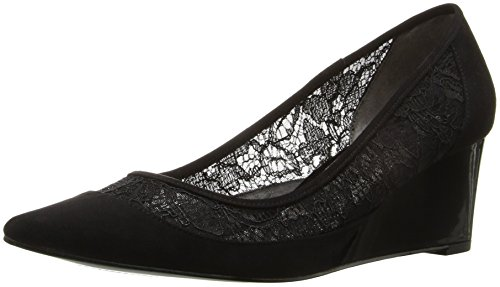 Adrianna Papell Women's Langley Pointed Toe Flat, Black, 7.5 M US