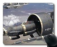 第二次世界大戦の航空機、ゲーミングマウスパッド、ファイターD20pfsrd、ステッチエッジ付きマウスパッド11.8インチ×9.85インチ