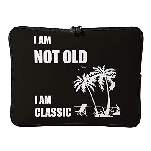 Laptop I Am Not Old I Am Classic small cute Laptop Shoulder Bag for Men white 17 zoll