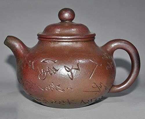 "SIYAO Wedding Decoration China Yixing zisha Pottery""孟臣""Master Carve Calligraphy Text Teapot Pot Tea Maker"