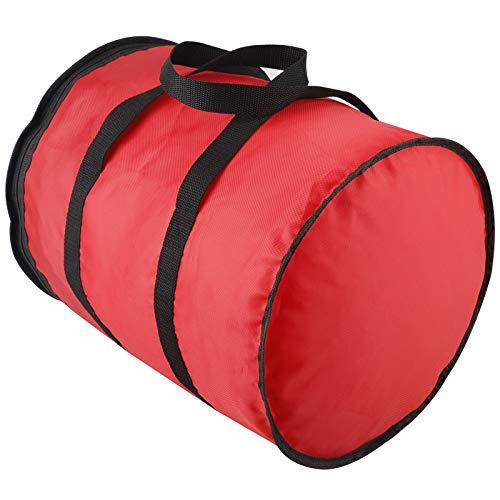 Pumpumly Red Christmas Ornaments Zip Sack Storage Bag Organizer Storage with Handle