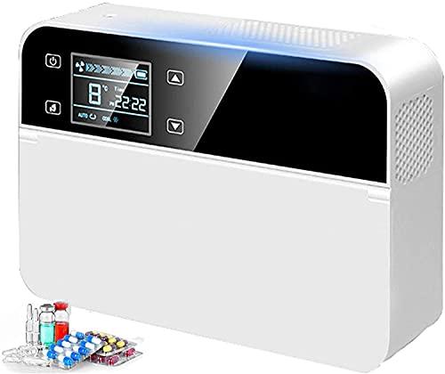 Estuche de enfriamiento de insulina ?0-18 Grados Congelador de insulina Termostato Control Temperatura Mini Pequeña Caja refrigerada portátil para hogar y Caja de insulina para automóvil