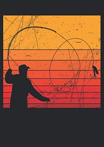 Notizbuch A4 dotted, gepunktet, punktiert mit Softcover Design: Fliegen Angler Fischer Fliegenangler Geschenk Fliegenfischer: 120 dotted (Punktgitter) DIN A4 Seiten
