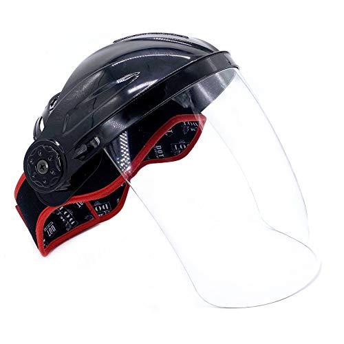 W-J-S Schutzmaske Wiederverwendbare transparenter Schirm Halbhelm PC-Bildschirm Anti-Rauch Und Splash Mask
