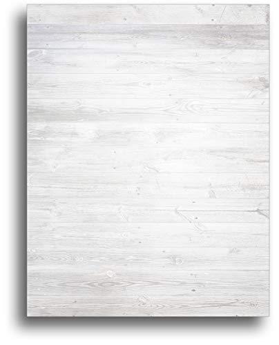 ホワイト木製背景文房具用紙 80枚