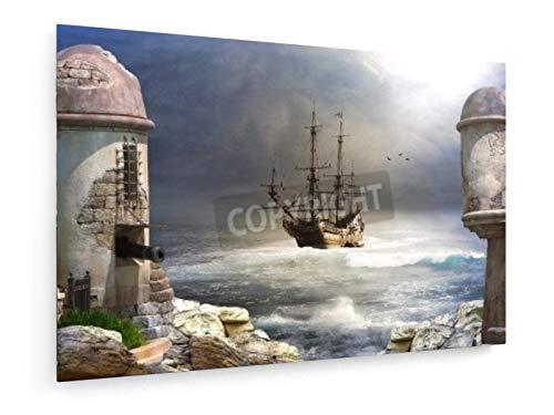 "Cuadro decorativo ""La bahía Pirata"", 120 x 80 cm."