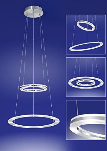MICA LED Pendelleuchte von B-leuchten 50W LED, 4500 Lumen, Nickel matt