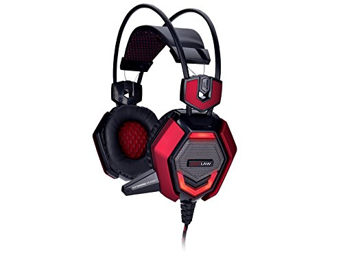 Tracer Outlaw Binaural Kopfband Schwarz, Rot - Headsets (PC/Gaming, Binaural, Kopfband, Schwarz, Rot, Verkabelt, 1 m)