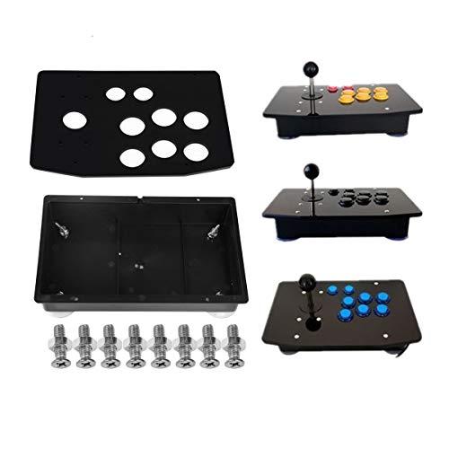 TAPDRA Kit de Bricolaje de Joystick de Panel y Caja de acrílico de Repuesto para el Kit de Bricolaje del Controlador de gabinete de la máquina de Juegos de Arcade (Negro)