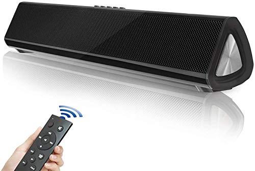 Barra de Sonido TV, Altavoz Bluetooth 5.0, Barra de Sonido Bluetooth, Cine en casa Sonido Envolvente para televisores, PC, Dispositivos móviles, Sonido Potente con Mando a Distancia