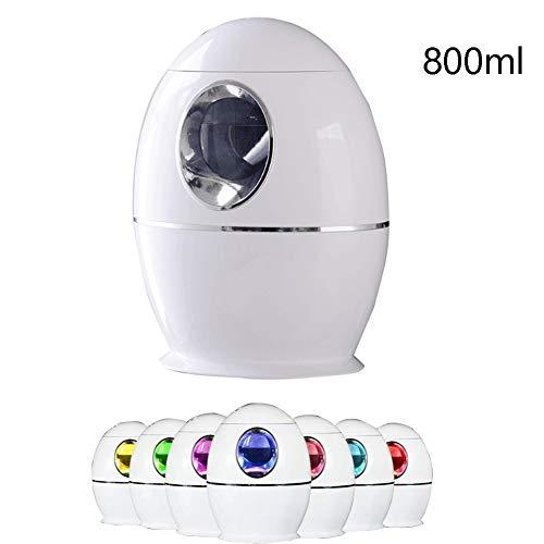 DFGHJK Humidificador Ultrasónico 800Ml,hasta 16-24 Hrs,Vapor Controlable, Auto Apagado Sin Agua,para Bebé Oficina Hogar Dormitorio