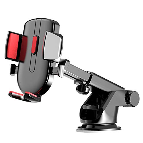 WBYY Soporte universal para teléfono de coche, soporte universal para coche con ventosa y ventosa para todos los teléfonos móviles, color rojo
