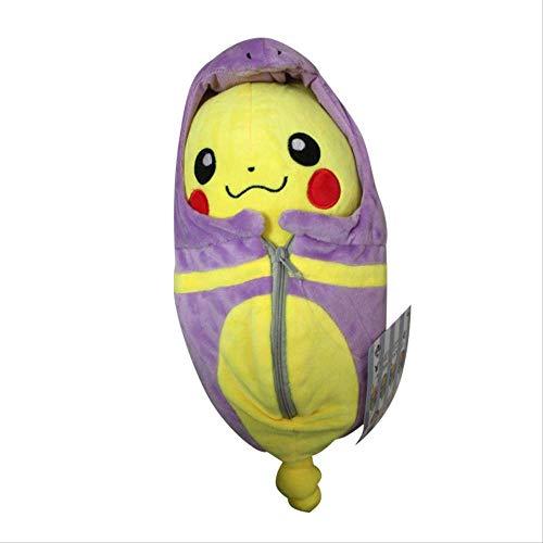DOUFUZZ SNHPP Kreative Spielzeug Spitfire Dragon Ibe ABEL Schlange Schlafsack Pikachu Plus Spielzeug Puppe 25cm Lila (offenes Auge) Schlafsack