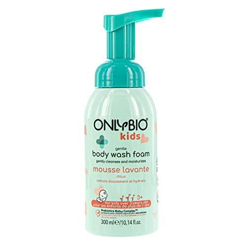 ONLYBIO sanfter Waschschaum für Kinder, milder Waschschaum ab 3 Jahre, Waschschaum sensitiv für zarte Kinderhaut, 300 ml