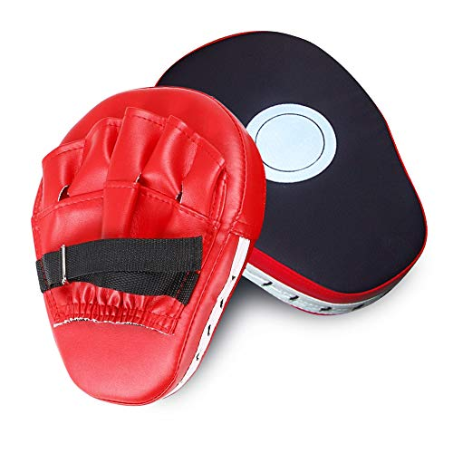 Vbestlife Punch Mitts 1 Pair Thicken Target PU Leather Punching Kicking Palm Pad Target Boxing Punch Pads Training Hand Pads for Karate Muay Thai Kick Boxing Martial Arts Sanda MMA Focus Training