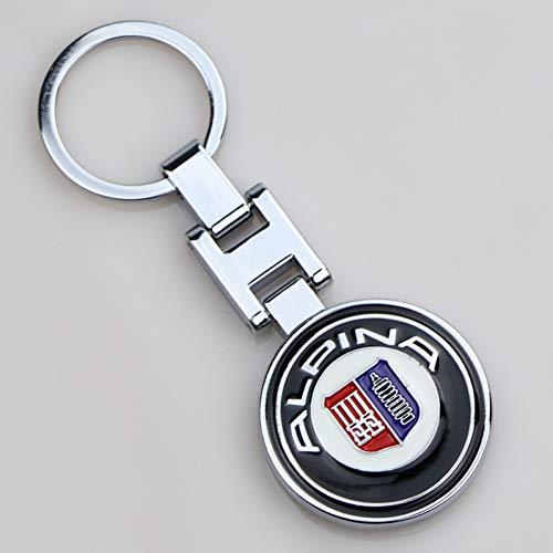 LBPLWY Auto schlüsselbund Schlüsselanhänger,Hochwertige Metall Auto Schlüsselanhänger für BMW Alpina Tail Modell Emblem Schlüsselanhänger E46 E90 E60 E39 E36 F30 F10 F20 Autozubehör