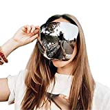 Sunglasses Visor Full Face Cover, Oversized Huge Big Shield Full Face Polarized Large Mirror Sunglasses, Daily Entertainment Protective Eyewear, UV Protection Large M-A-S-K (C)