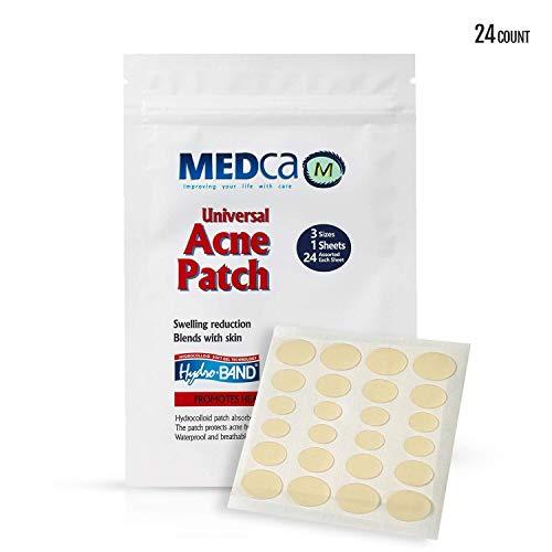 Cubiertas absorbentes acné. Vendas cuidado acné
