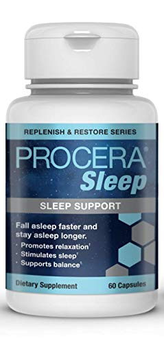 Procera Sleep - 2-in-1 Non-Addictive Natural Sleep Aid & Stress Relief Formula | Promotes Calm & Relaxation | Magnesium, 5-HTP, L-Theanine, Valerian Root, Hops Extract, B-6 & Melatonin | 60 Capsules