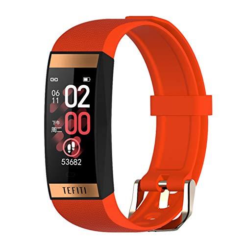 JXFF Nuevo Reloj Inteligente de Las Mujeres E78 Pulsera Inteligente Pantalla táctil IP68 Impermeable Salud Deportes Pulsera Monitor de frecuencia cardíaca (para Android iOS),E