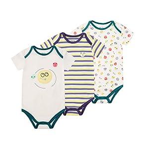 Froerley Body Bebe Niño, Ropa Bebe Niños Recién Nacido 0-3 Meses Verano, Bodies Bebe Manga Cortas, Algodón, Bebes Regalos