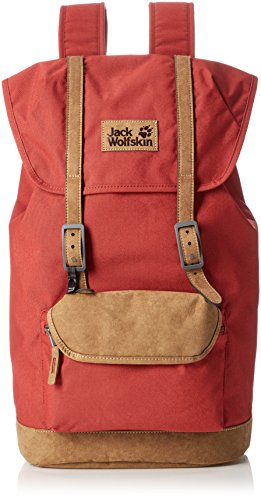 Jack Wolfskin Earlham Polyester Rouge Sac à Dos - Sacs à Dos (Polyester, Rouge, Uniforme, 600 D, Unisexe, Poche Frontale)