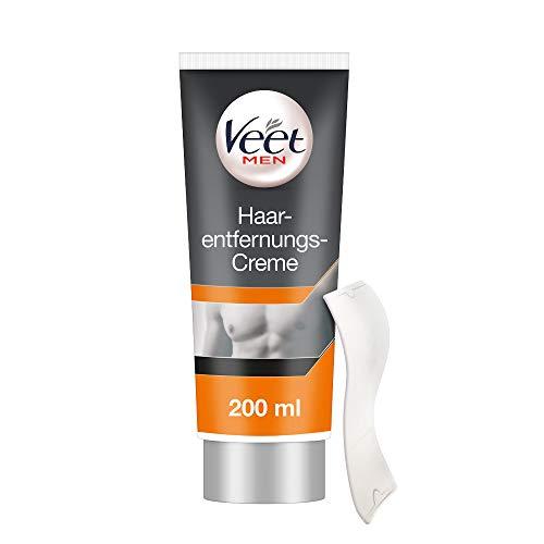 Veet Men Haarentfernungscreme, schnelle und effektive Haarentfernung für Männer in nur 5-10 Minuten, 1er Pack (1 x 200 ml)