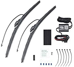 """Crystal Clear - Automatic Heated Windshield Wiper System - Thermal Graphite Coated Rubber Deicer Blades Melt Ice and Snow - Winter Safety Wipers For Cars and Trucks - 22"""" Blade + 22"""" Blade"""
