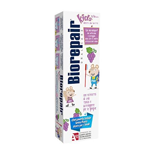 Biorepair Kids Dentifricio Anti-Carie 0/6 Anni al gusto d'Uva, 50ml