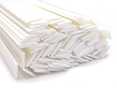 Plastique baguettes de soudure ABS Blanc 8x2mm Plat 25 Barres