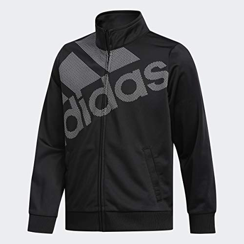 adidas Big Girls Tricot Logo Full-Zip Long Sleeve Track Jacket - Black (X-Large 16)
