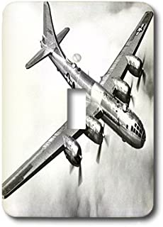 3dRose lsp_171538_1 Image of a B 29 Airplane in Flight Light Switch Cover