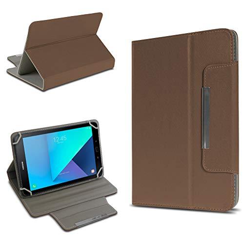 UC-Express Tablet Tasche kompatibel für Samsung Galaxy Tab Active 2 Hülle Tablet Schutzhülle Hülle Schutz Cover, Farben:Braun