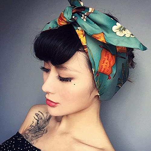 Jovono - Fascia per capelli stampa americana, con nodo semplice, stile orecchie di coniglio, per donne e ragazze