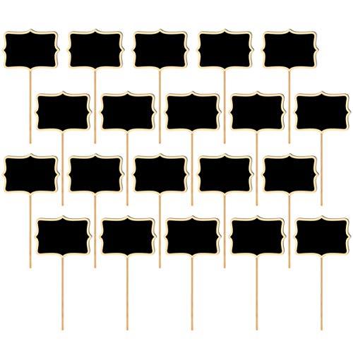 Artibetter 20St Mini Schoolbord Teken Plant Tag Uitwisbare Hout Prikbord Borden Tuinplant Bloem Naam Inzet Tuin Label Decor
